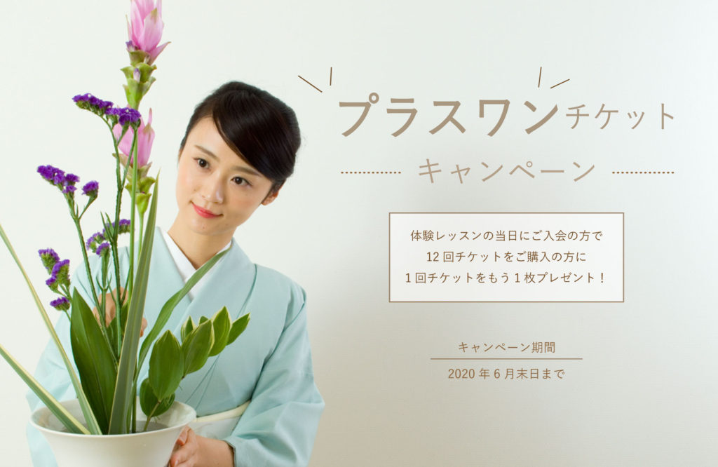 生け花教室体験キャンペーン